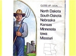 Close Up USA Map ND SD NE KS MN IA MO