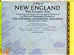 Click here to enlarge image and see more about item feb2952: New England Map with Descriptive Notes
