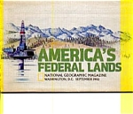 Click here to enlarge image and see more about item feb2968: America's Federal Lands Map 1982