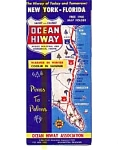 Click here to enlarge image and see more about item feb3055: Ocean Hiway US 13 and US 17 Map   feb3055