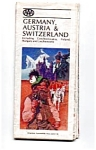 Map of Germany,Austria, Switzerland, 1982,AAA