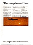 Click here to enlarge image and see more about item feb3209: Delta One Plane  Airline Ad feb3209