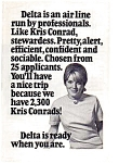 Click here to enlarge image and see more about item feb3210: Delta Professional Stewardess Ad feb3210