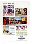 Click here to enlarge image and see more about item feb3225: Air France Parisian Holiday Ad feb3225