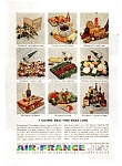 Click here to enlarge image and see more about item feb3226: Air France 7 Course Meal  Ad feb3226