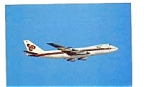 Thai International 747 Airline Postcard feb3250