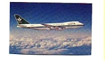 Saudia 747 Airline Postcard feb3257