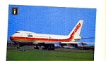 Alia 747 Airline Postcard feb3258