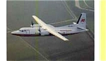 Kenya Airways Fokker 50 Airline Postcard