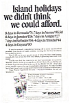 Click here to enlarge image and see more about item feb3271: BOAC Island Holiday Tour Ad feb3271