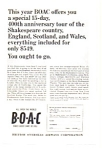 BOAC Shakespeare  Tour Ad