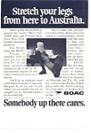 BOAC VC-10 to Australia Ad