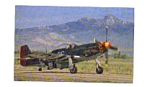 Click here to enlarge image and see more about item feb3280: North American P-51D Fighter Postcard