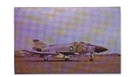 Click here to enlarge image and see more about item feb3281: US Navy Phantom II F-4J Postcard