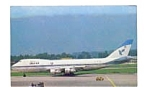 Iran Air 747 Airline Postcard feb3311