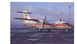 Click here to enlarge image and see more about item feb3327: Cimber Air ATR-42 Airline  Postcard