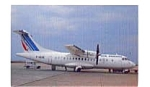 Click here to enlarge image and see more about item feb3330: Air France ATR-42 Airline  Postcard