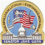 Senator  Garn Flight 51D NASA Space Patch