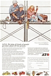 Click here to enlarge image and see more about item jan0377: Norman Rockwell Your Kidding Ad