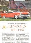 Click here to enlarge image and see more about item jan0379: 1957 Lincoln Hardtop  Ad jan0379