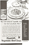 Click here to enlarge image and see more about item jan0478: Campbell's Vegetable Beef Soup Ad 1934