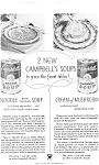 Click here to enlarge image and see more about item jan0481: Campbell's Noodle with Chicken Soup Ad 1934