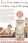 Texaco Ethyl Fire Chief Ad 1933