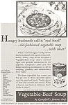 Click here to enlarge image and see more about item jan0485: Campbell's Vegetable Beef Soup Ad 1932