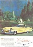 Click here to enlarge image and see more about item jan0571: 1956 Cadillac Coupe Ad harry Winston Jewels jan0571