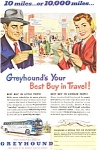 Click here to enlarge image and see more about item jan0574: Greyhound Ad Best Buy in Travel