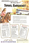 Click here to enlarge image and see more about item jan0575: Greyhound Ad Fall Travel Bargains