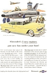 Click here to enlarge image and see more about item jan0589: 1955 Chevrolet Bel Air 4 Door Sedan  Ad jan0589