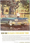 Click here to enlarge image and see more about item jan0883: 1963 Cadillac at Nantucket  Ad jan0883