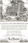 Click here to enlarge image and see more about item jan0973: 1927 La Salle by Cadillac Automobile Ad