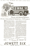 Click here to enlarge image and see more about item jan0986: 1924 Jewett Six Automobile Full LIne Ad