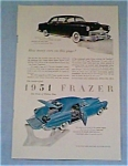 Click here to enlarge image and see more about item jan1312: 1951 Frazer four door sedan and Vagabond jan1312