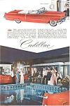 Click here to enlarge image and see more about item jan1576: 1956 Cadillac  Convertible Ad