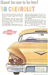 Click here to enlarge image and see more about item jan1585: 1958 Chevrolet  Impala Ad