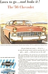 Click here to enlarge image and see more about item jan1588: 1956 Chevrolet  Sport hardtop Sedan Ad