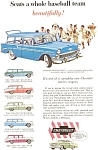 Click here to enlarge image and see more about item jan1596: 1956 Chevrolet  Wagon Line Ad jan1596