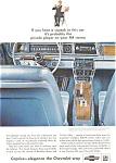 1966 Chevrolet  Caprice Interior Ad