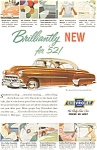 Click here to enlarge image and see more about item jan1680: 1952 Chevrolet Bel Air Hardtop Ad
