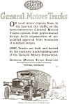 Click here to enlarge image and see more about item jan1879: 1920 GMC Truck Ad