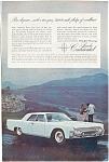 Click here to enlarge image and see more about item jan1893: 1961 Lincoln Continental Ad jan1893
