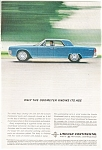 Click here to enlarge image and see more about item jan1895: 1962 Lincoln Continental  Odometer Ad jan1895