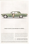 Click here to enlarge image and see more about item jan1896: 1962 Lincoln Continental 4-Door  Ad jan1896