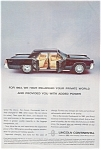 Click here to enlarge image and see more about item jan1898: 1963 Lincoln Continental  Private World Ad