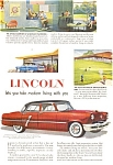 1952 Lincoln Four Door Sedan  Ad