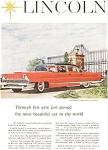 Click here to enlarge image and see more about item jan1980: 1956 Lincoln Premiere Sedan Ad