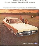 Click here to enlarge image and see more about item jan1983: 1970 Mercury Marquis Colony Park Wagon Ad